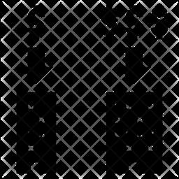 Profit Scale Glyph Icon