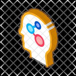 Programmed Brain Isometric Icon