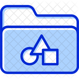 Project Folder Colored Outline Icon