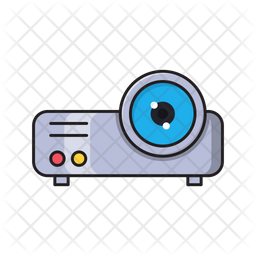 Projector Colored Outline Icon