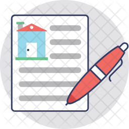 Property Agreement Colored Outline Icon