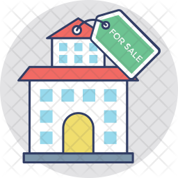 Property For Sale Colored Outline Icon