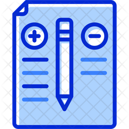 Pros And Cons Colored Outline Icon