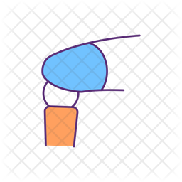 Prosthetic knee joint Colored Outline Icon
