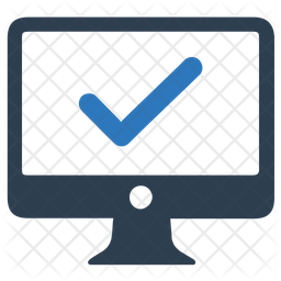 Protected computer Flat Icon