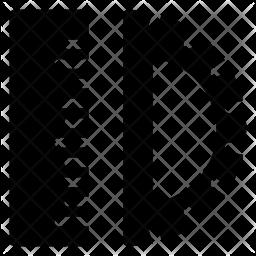 Protractor Glyph Icon