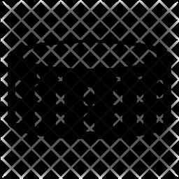 Pula arena Glyph Icon