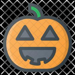 Pumpkin Colored Outline Icon