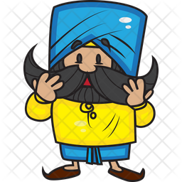 Punjabi Man Icon Of Sticker Style Available In Svg Png Eps Ai Icon Fonts