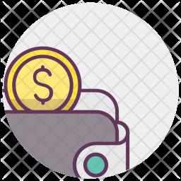 Purse, Wallet, Cash, Money, Dollar, Income Icon