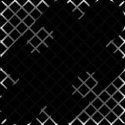 Puzzle Glyph Icon