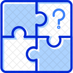 Puzzle Colored Outline Icon