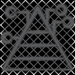 Pyramid Graph Doodle Icon