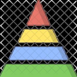 Pyramid  triangle charts Icon