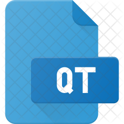Qt file Flat Icon