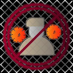 Quarantine Person Flat Icon