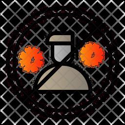 Quarantine Person Colored Outline Icon