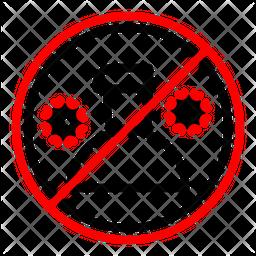 Quarantine Person Line Icon