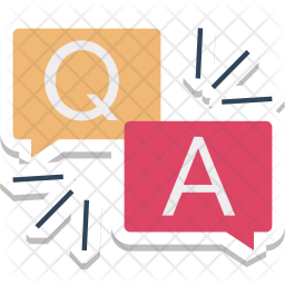 Question answer Icon of Flat style - Available in SVG, PNG ...