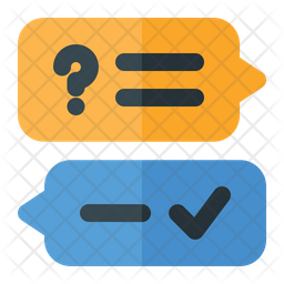 Questions And Answer Icon Of Flat Style Available In Svg Png Eps Ai Icon Fonts