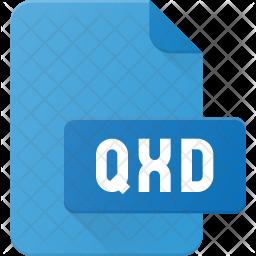 Qxd file Flat Icon