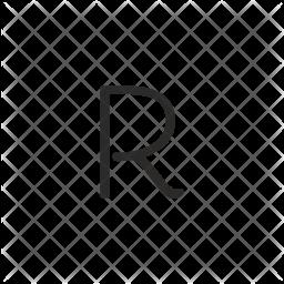 R alphabet Glyph Icon