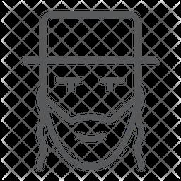 Rabbi Line Icon