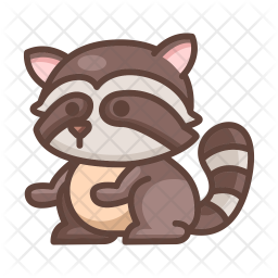 Raccoon Icon Of Colored Outline Style Available In Svg Png Eps Ai Icon Fonts