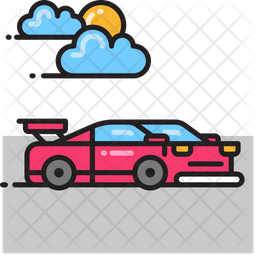 Race Car Icon Of Colored Outline Style Available In Svg Png Eps Ai Icon Fonts