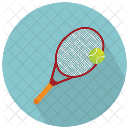 Racket And Tennis Ball Icon