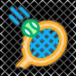 Racket Hit Ball Icon
