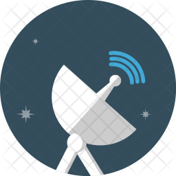 Radar, Satellite, Electric, Wave, Communication, Spaceship, Telescope, Tracker Icon