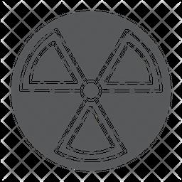 Radiation Glyph Icon