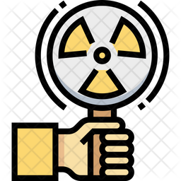 Radiation Colored Outline Icon