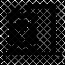 Radiation Barrel Glyph Icon