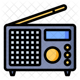 Radio Colored Outline Icon