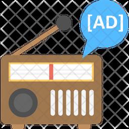 Radio advert Icon
