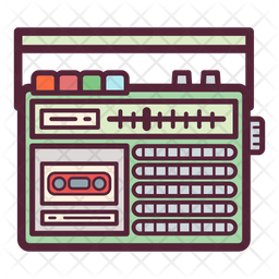 Radio Cassette Recorder Icon Of Colored Outline Style Available In Svg Png Eps Ai Icon Fonts