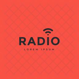 Radio Logo Colored Outline Icon