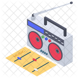 Radio Set Icon Of Isometric Style Available In Svg Png Eps Ai Icon Fonts