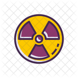 Radioactive Colored Outline Icon