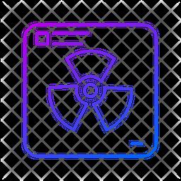 Radioactive Gradient Icon