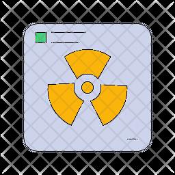 Radioactive Flat Icon