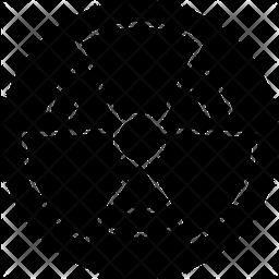 Radioactive Glyph Icon