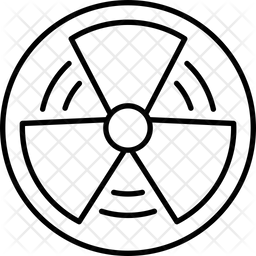 Radioactive Line Icon