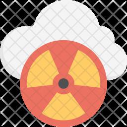 Radioactive Symbol Flat Icon