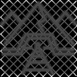 Rail Track Line Icon