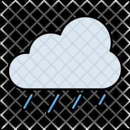 Rain Colored Outline Icon