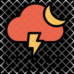 Rain Lightning Icon