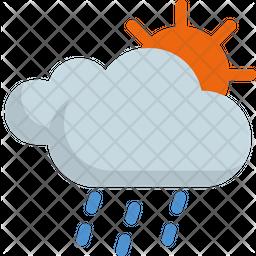 Raining at morning Icon